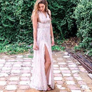 Multi Blush L'ATISTE Maxi Dress